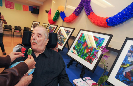 Mexican Museum founder and Art With Elders participant Peter Rodriguez honored on his birthday